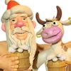 Сибирский Дед Мороз и Новый год Коровы