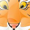 Круглый тигр в облаке тегов