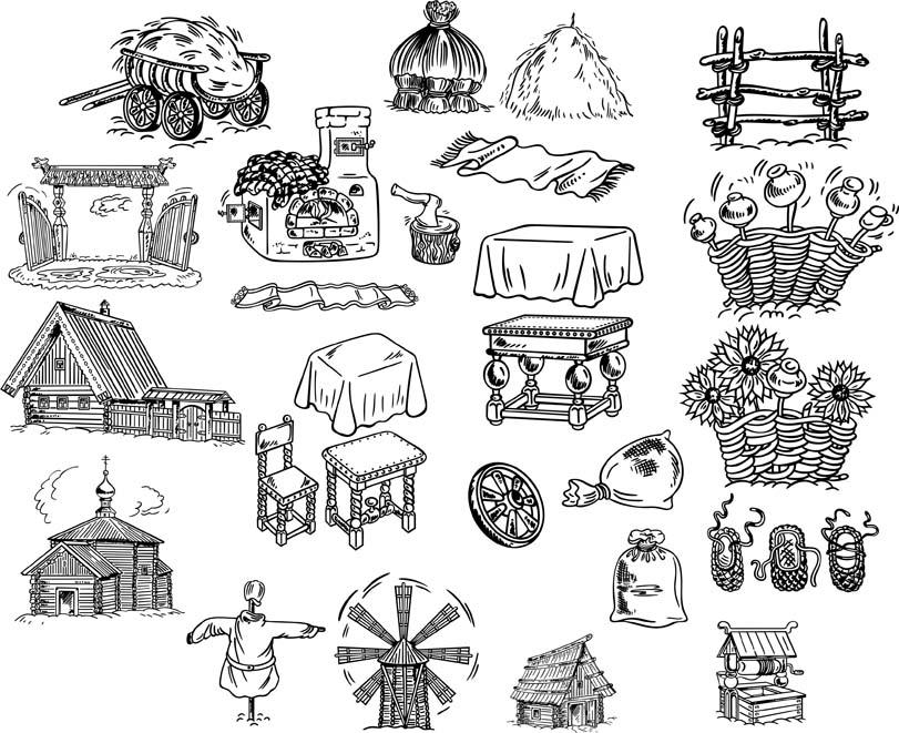 Как нарисовать украинскую хату