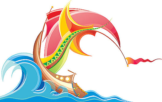 V-Best: кораблик(Векторная графика и иллюстрация)
