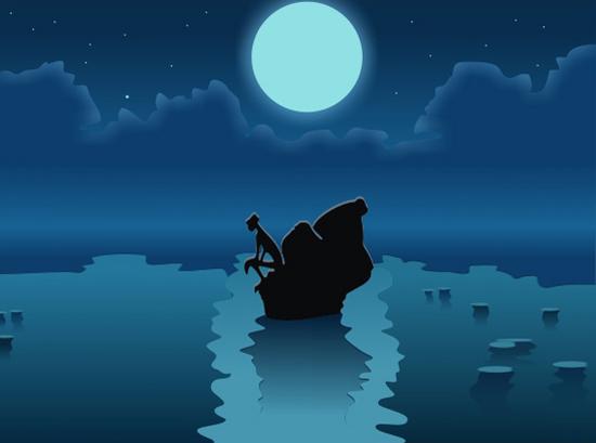 copy: La luna(Векторная графика и иллюстрация)