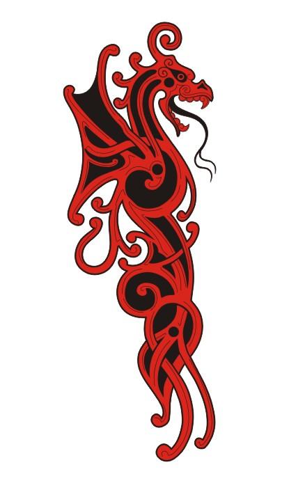 Узоры: Drakon_tattoo(Векторная графика и иллюстрация)