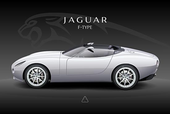 Машины: Jaguar F-Type(Векторная графика и иллюстрация)