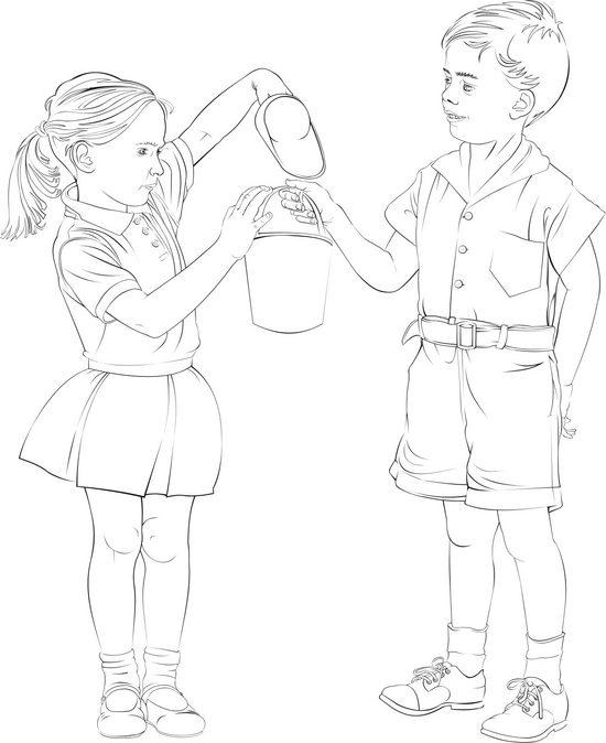 Vector Constructor: мальчик и девочка(Векторная графика и иллюстрация)