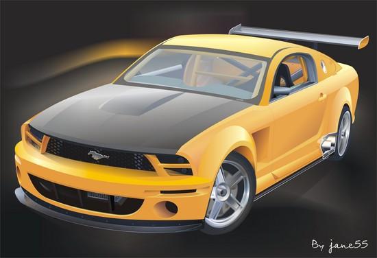 Машины: Ford Mustang(Векторная графика и иллюстрация)