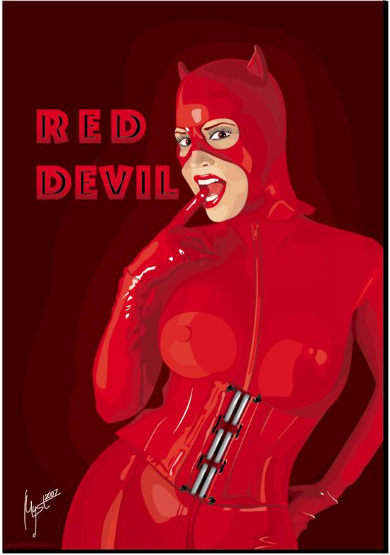 VGlow: Red Devil (Женщина, Дьявол)(Векторная графика и иллюстрация)