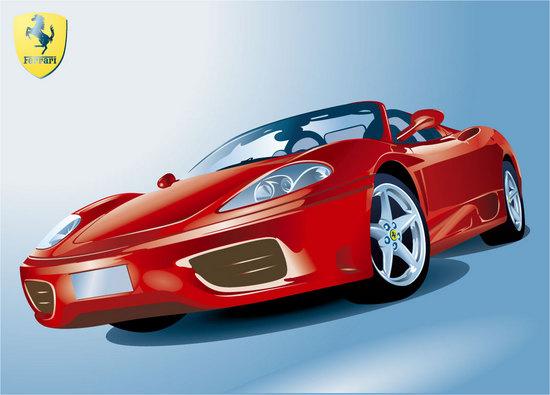 Машины: Ferrari(Векторная графика и иллюстрация)
