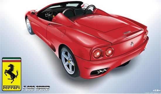 Машины: Ferrari F360 Spider(Векторная графика и иллюстрация)