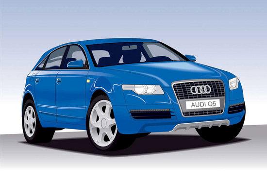Машины: AUDI Q5(Векторная графика и иллюстрация)