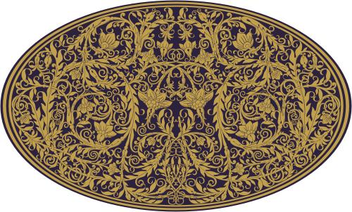 Узоры: Орнамент растительный(Векторная графика и иллюстрация)