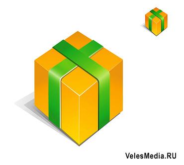 Vector Constructor: Подарочная коробка - иконка(Векторная графика и иллюстрация)