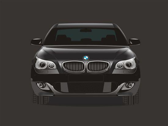 Машины: bmw5(Векторная графика и иллюстрация)