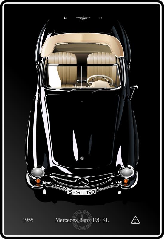 Машины: Mercedes-Benz 190 SL(Векторная графика и иллюстрация)