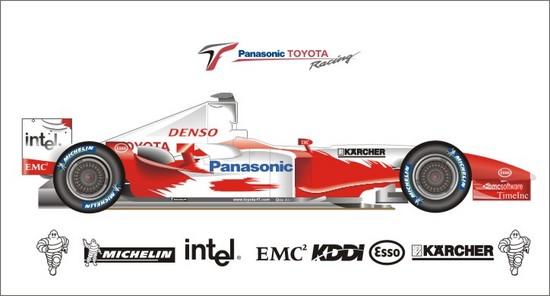 Машины: Toyota TF104(Векторная графика и иллюстрация)