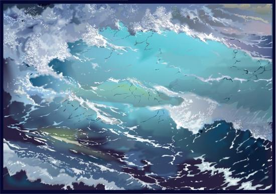 Xara X: Море, волны(Векторная графика и иллюстрация)