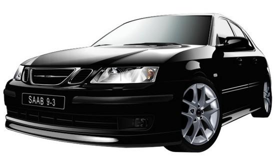 Машины: Saab 9-3(Векторная графика и иллюстрация)