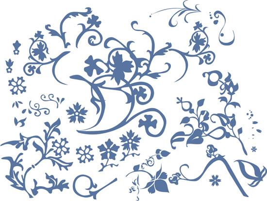 Узоры: fit flowers(Векторная графика и иллюстрация)