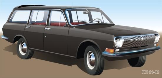 Машины: ГАЗ 24-02(Векторная графика и иллюстрация)