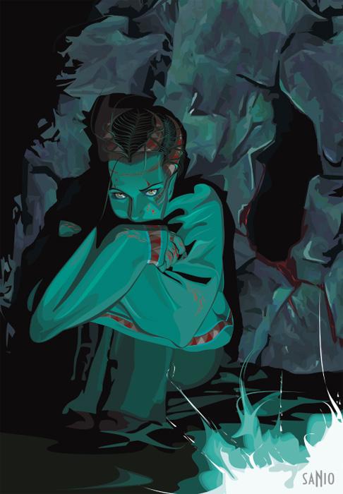 VGlow: Девочка демон... или в холодном мраке.(Векторная графика и иллюстрация)