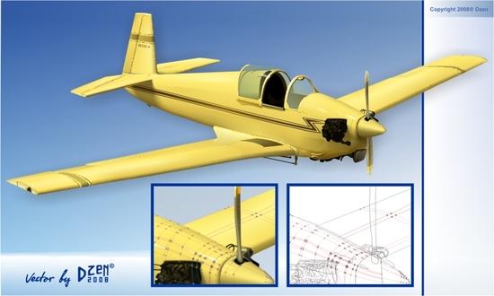 Vector Constructor: самолет(Векторная графика и иллюстрация)