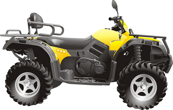 Машины: квадроцикл АВМ500(Векторная графика и иллюстрация)