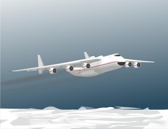 Машины: Ан-225 Мрия(Векторная графика и иллюстрация)