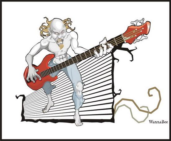 VGlow: аццкий басист!(Векторная графика и иллюстрация)