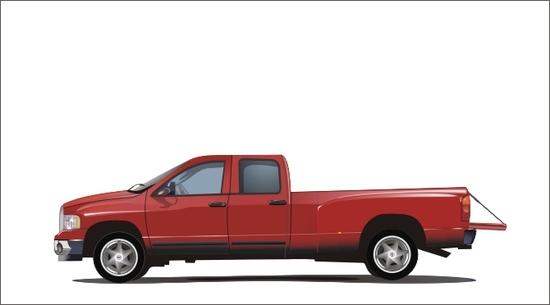 Машины: Dodge Ramm(Векторная графика и иллюстрация)