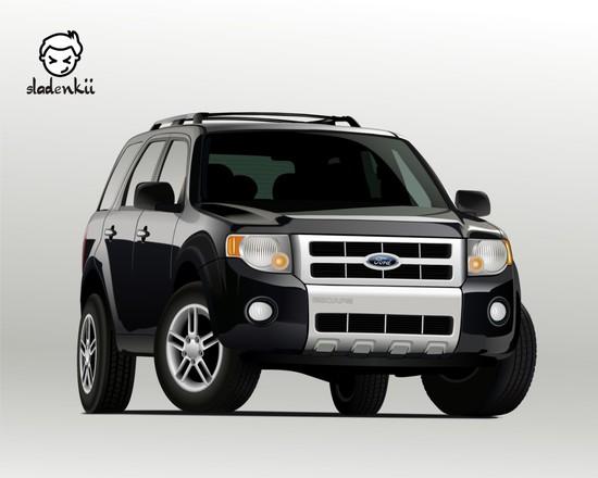 Машины: Ford Escape(Векторная графика и иллюстрация)