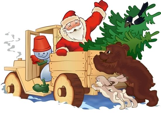 Xara X: Дед Мороз на авто(Векторная графика и иллюстрация)