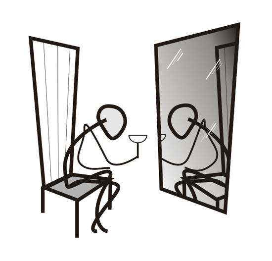 VGlow: Отражение одиночества(Векторная графика и иллюстрация)