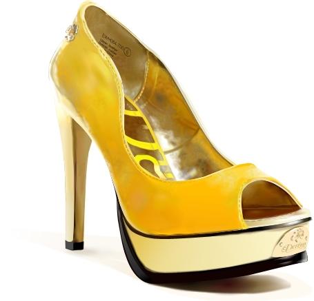 Xara X: Желтая туфелька (Dereon shoe)(Векторная графика и иллюстрация)