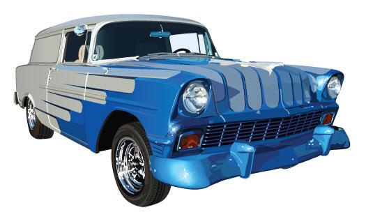 Машины: The blue car(Векторная графика и иллюстрация)