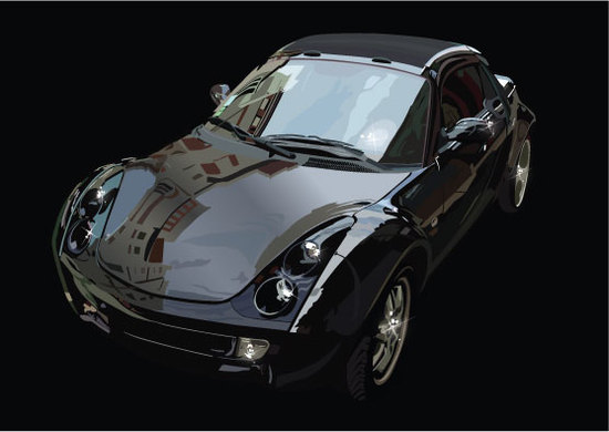 Машины: To be reflected in a car(Векторная графика и иллюстрация)