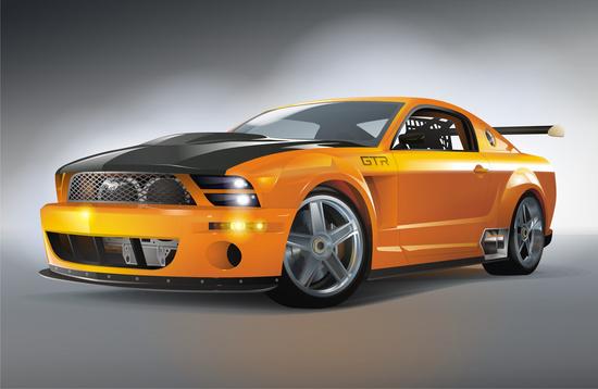 Машины: mustang(Векторная графика и иллюстрация)