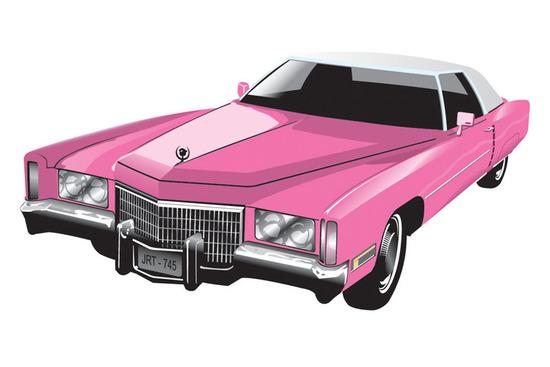 Машины: cadillac_eldorado_coupe(Векторная графика и иллюстрация)