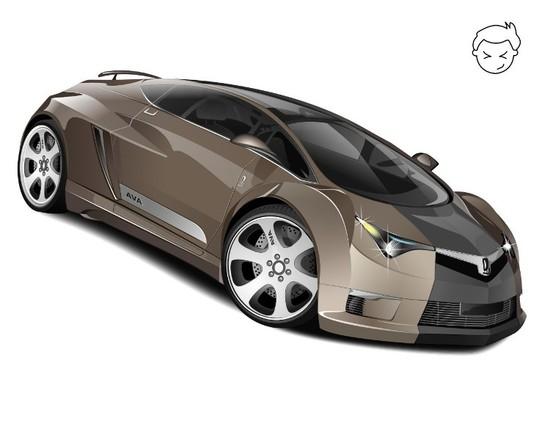 Машины: VAZ AVA(Векторная графика и иллюстрация)