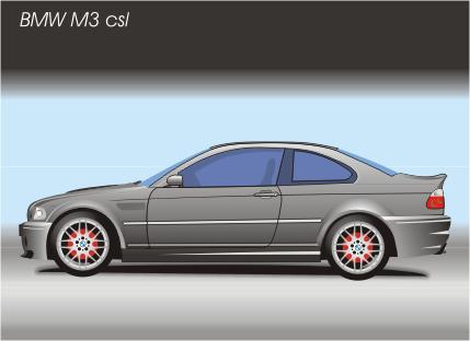 Машины: BMW M3(Векторная графика и иллюстрация)