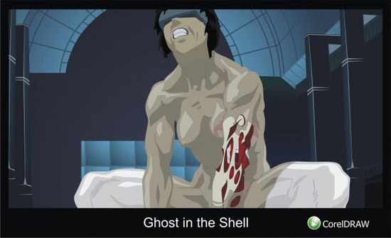 copy :  Ghost in the Shell(Векторная графика и иллюстрация)