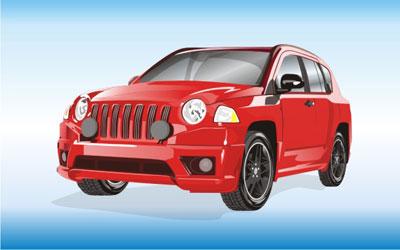 Машины: джип(Векторная графика и иллюстрация)