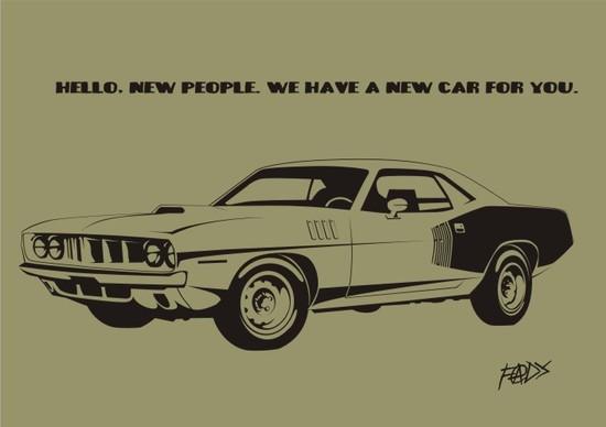 Машины: Plymouth 'Cuda(Векторная графика и иллюстрация)