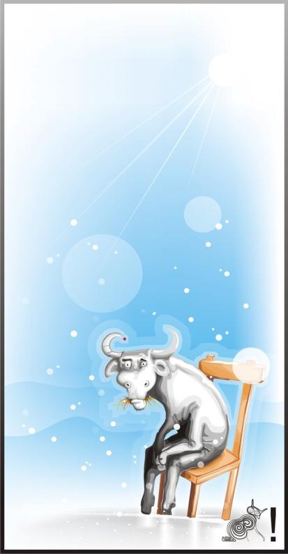 VGlow: грустный бык(Векторная графика и иллюстрация)