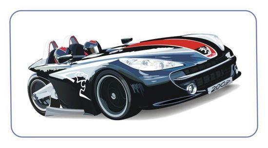 Машины: Peugeot 20cup(Векторная графика и иллюстрация)