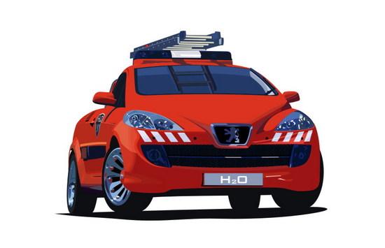 Машины: Peugeot H2O(Векторная графика и иллюстрация)