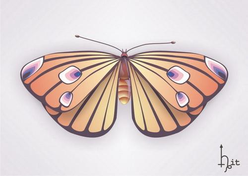 VGlow: Butterfly(Векторная графика и иллюстрация)