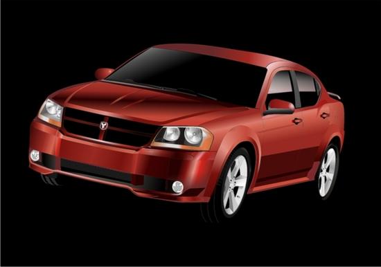Машины: Avto-Dodge(Векторная графика и иллюстрация)
