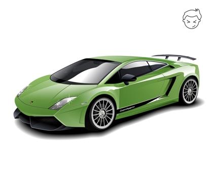 Машины: Lamborghini Gallardo Superleggera(Векторная графика и иллюстрация)