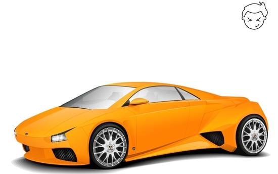 Машины: Lamborghini Embolado(Векторная графика и иллюстрация)
