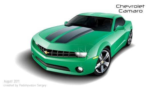 Машины: Chevrolet Camaro(Векторная графика и иллюстрация)