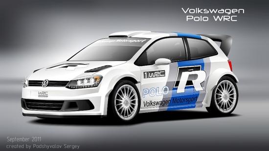 Машины: Volkswagen Polo WRC(Векторная графика и иллюстрация)